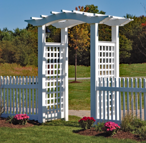 Arched Entry Pergola A-1