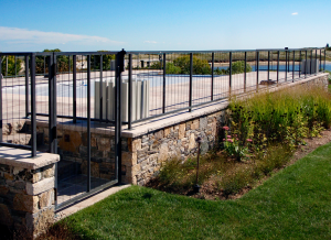 Bronze Pool Enclosure Fencing AM-5