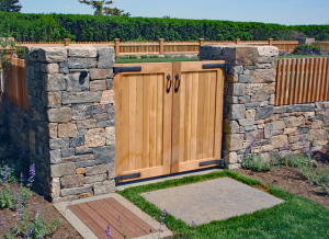 Custom Cedar Entry Gate G-4