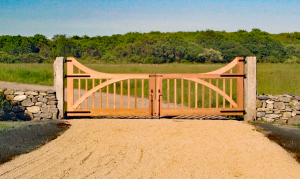 Custom Mahogany Entry Gate G-6
