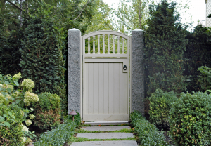 Wood Arched Entry Gate G-8