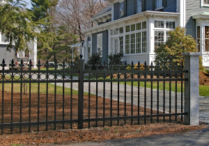 Estate IAM Ornamental Picket Fence F-O-9