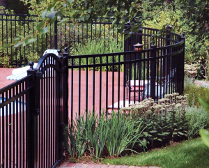 Traditional Three Rail Ornamental Aluminum Fence F-O-40