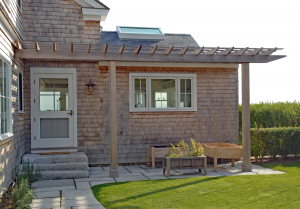 Wood Attached Pergola P-A-18