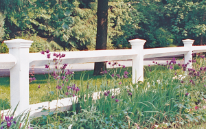 Estate Post and Rail Fence F-WR-4