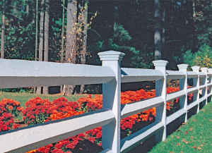 Estate Post and Rail Fence F-WR-3